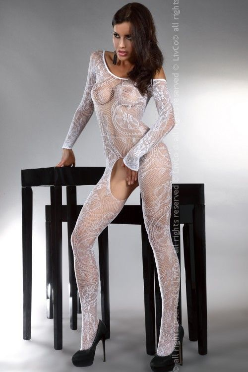 ABRA Bodystocking, weiß
